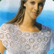Blusa Blanca de Tapetes a Crochet