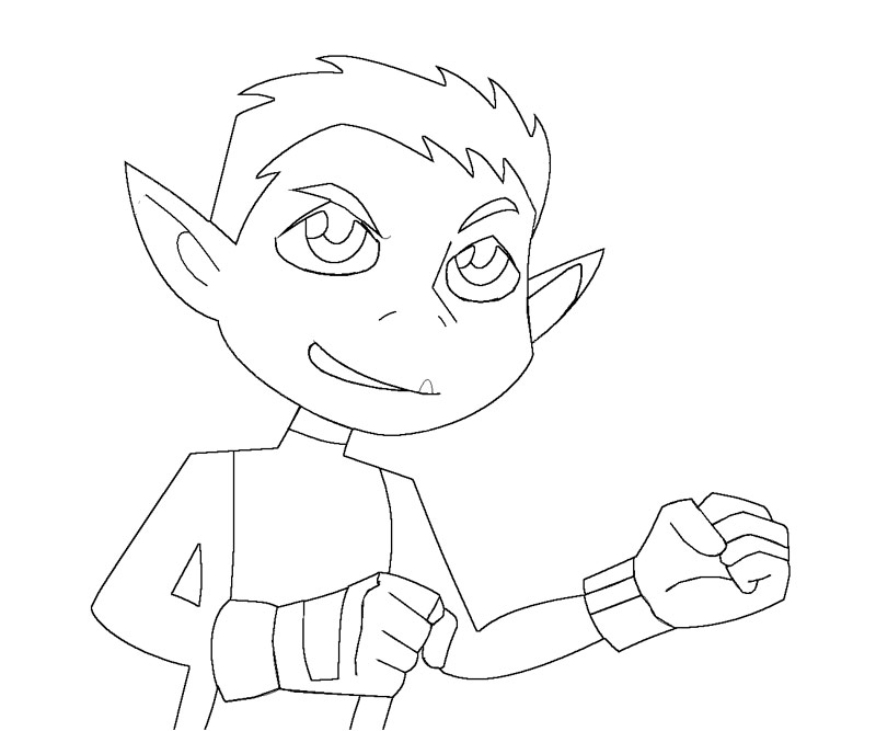 7 beast boy coloring page