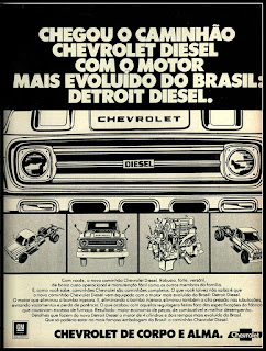 caminhão Chevrolet Diesel; GM anos 70; brazilian truck; brazilian advertising cars in the 70. os anos 70. história da década de 70; Brazil in the 70s; propaganda carros anos 70; Oswaldo Hernandez;