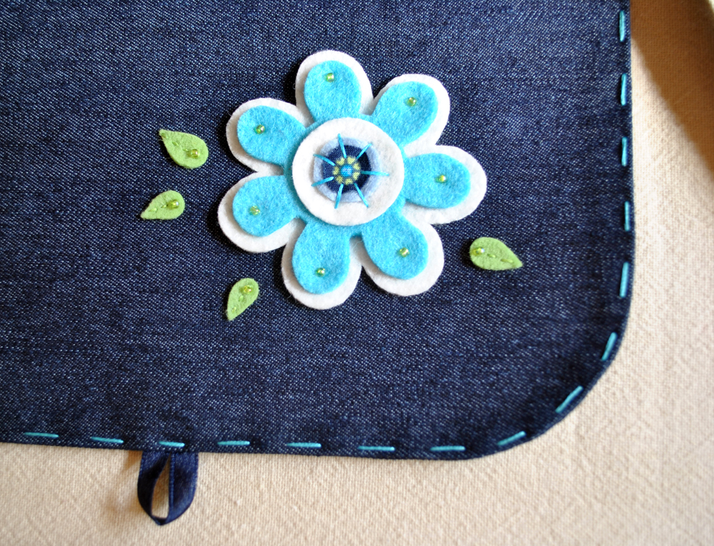 Krizantám  Kifordítható türkiz virágos nagylány táska 2e2fe1aae7