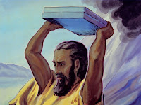 When Moses saw the golden calf, he smashed the tablets of stone.