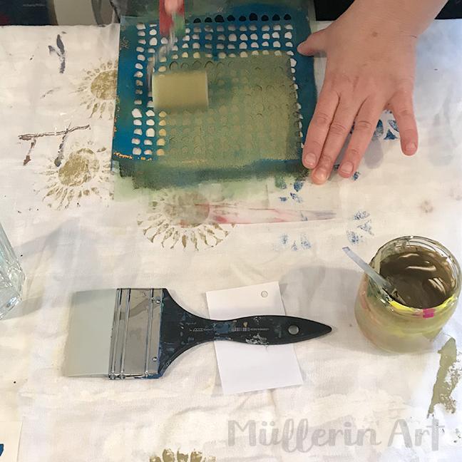 Sieb-und Schablonedruck nach ©muellerinart