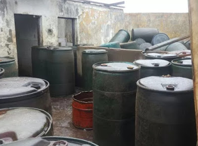 oil thieves 2000 drums diesel port harcourt