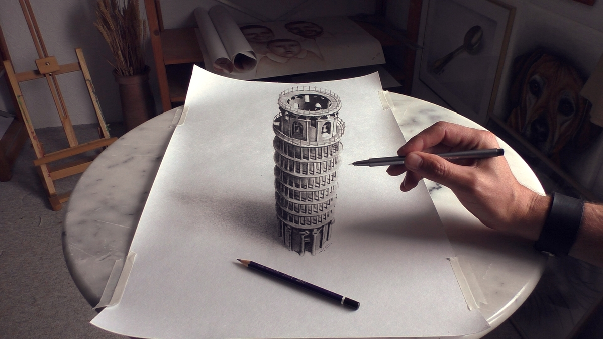 07-Tower-of-Pisa-Stefan-Pabst-NO-Photoshop-3D-Anamorphic-Drawings-with-Video-www-designstack-co