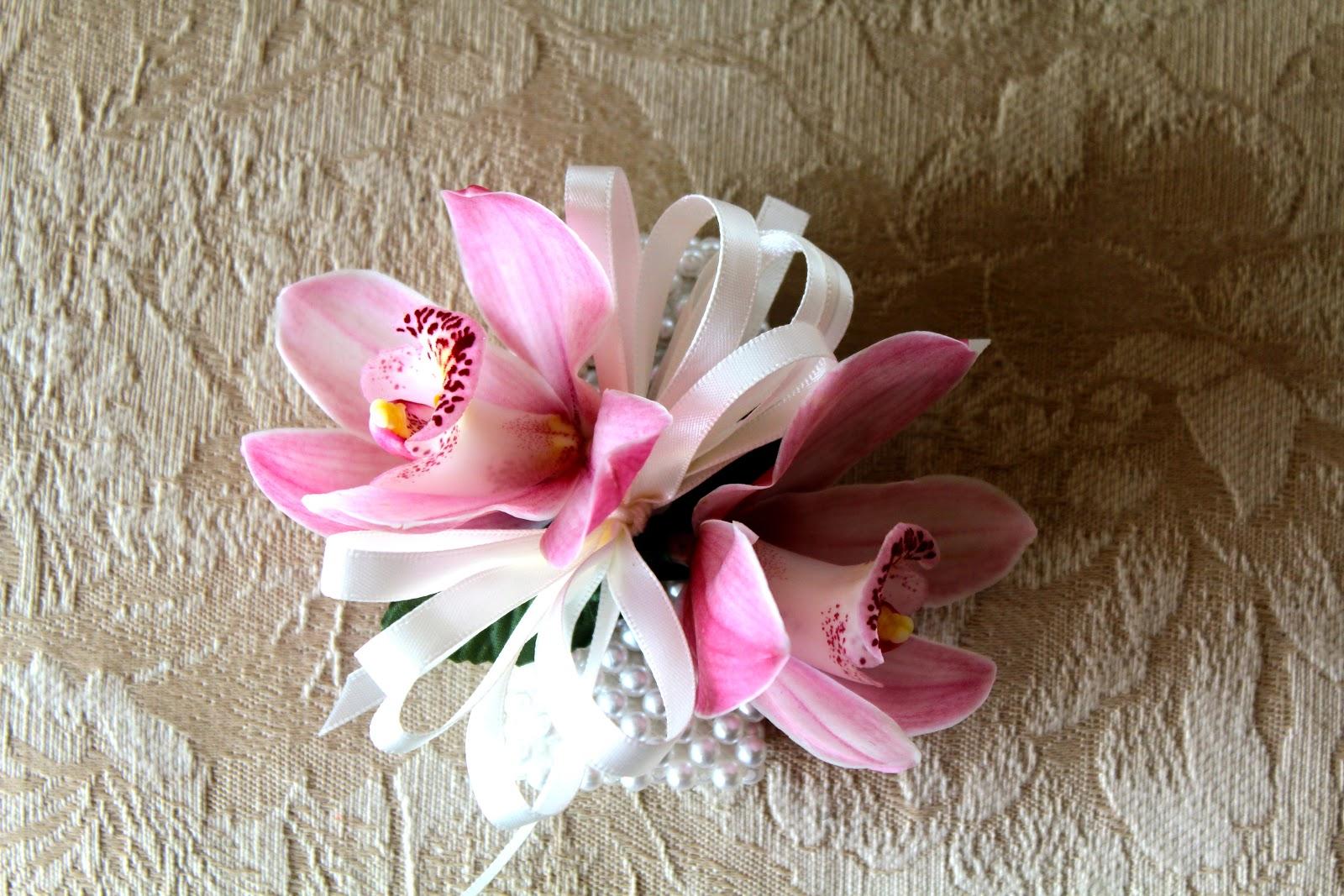 Cymbidium Orchid Wrist Corsages: Allison Phalen Floral Design: October 2012