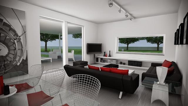 Salón de vivienda modular - Resan