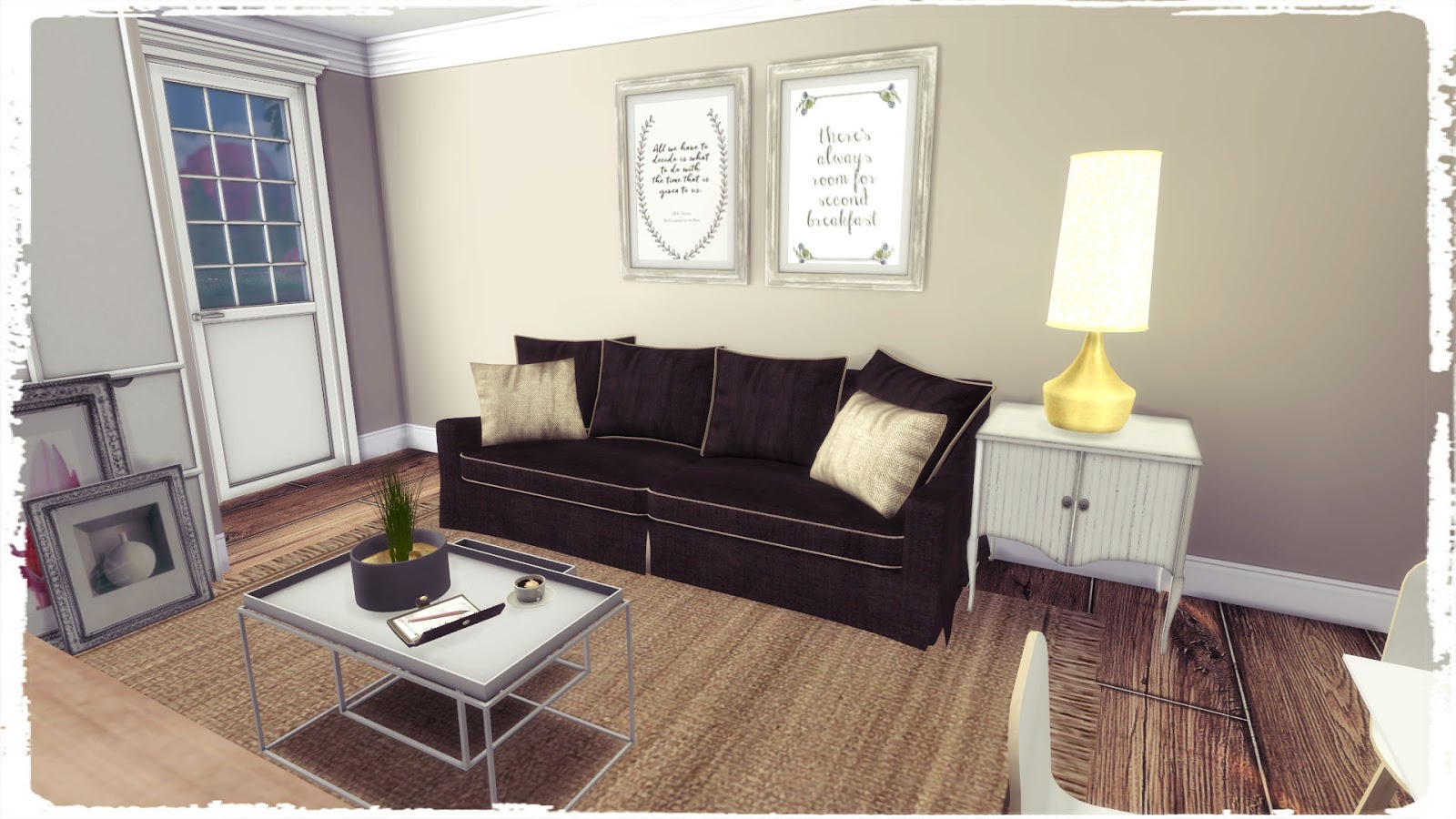 Sims 4 Cozy Brown Livingroom Build Decoration Dinha