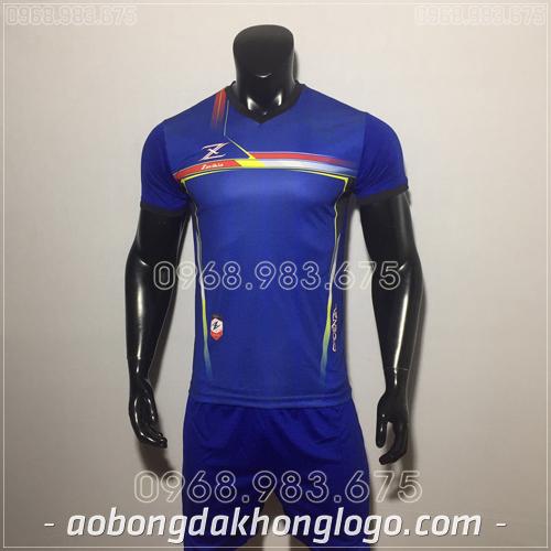 Áo bóng đá không logo Zavikia HAT Zavi màu xanh đậm