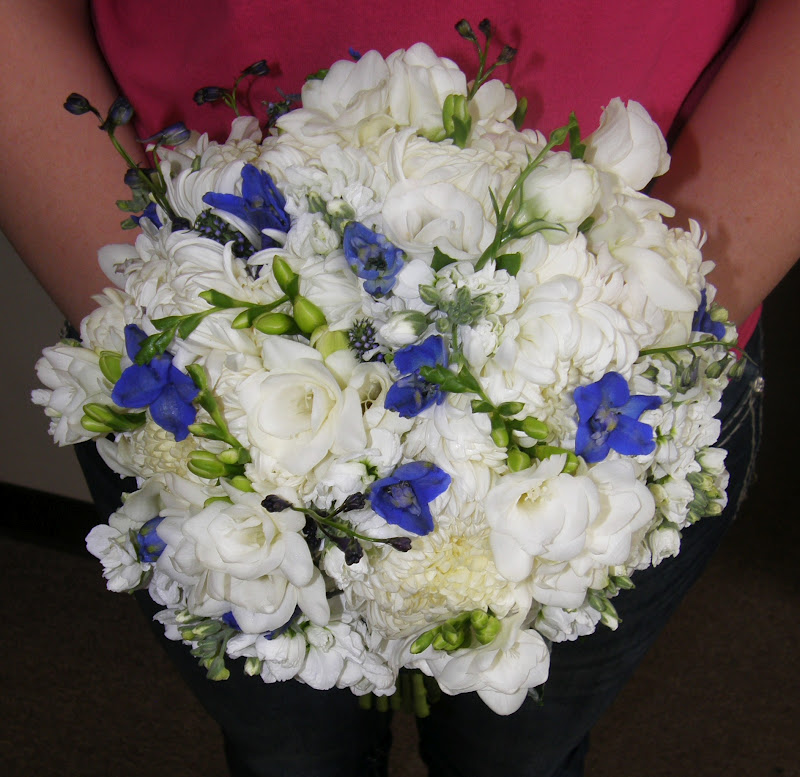 Wedding Bouquets Not Flowers: Forget Me Not Floral Events: Cobalt Blue And White Wedding