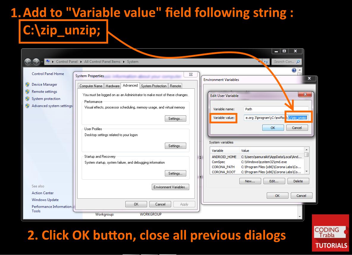 codingtrabla: How to setup Unix-like zip / unzip in Windows