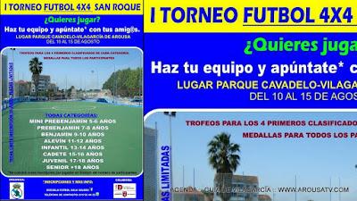 09:00-12:00/19:00-22:00 I TORNEO FUTBOL 4x4 SAN ROQUE 10-15ago'15 en O Cavadelo (fútbol)