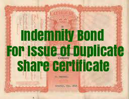 Indemnity-Bond-Issue-Duplicate-Share-Certificate