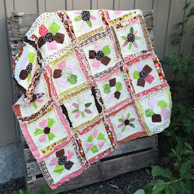 Flower Applique Rag Quilt Pattern by A Vision to Remember