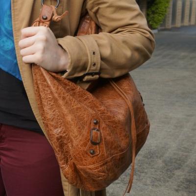 Balenciaga truffle brown RH classic day bag | away from the blue