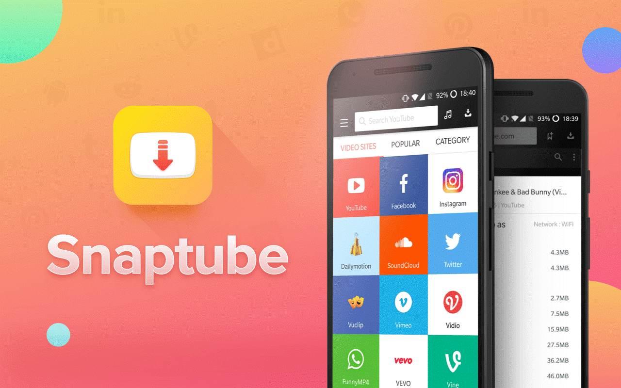 تطبيق  SnapTube VIP بريميوم للتحميل من كافة مواقع الويب + مميزات عديدة