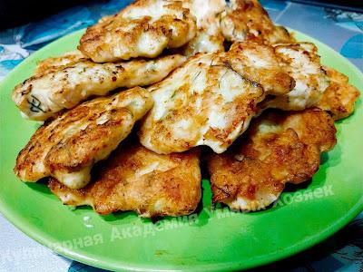 Оладьи из куриного филе рубленые