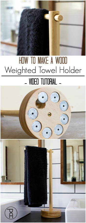 simple video how to wood weighted hand towel bathroom holder stand