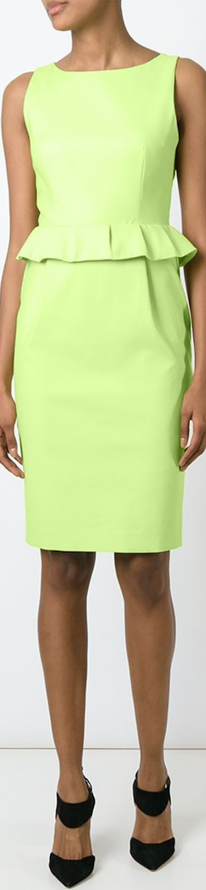 Boutique Moschino Peplum Waist Fitted Dress