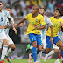 Brasil bate Argentina com gol de Miranda aos 47 do segundo tempo