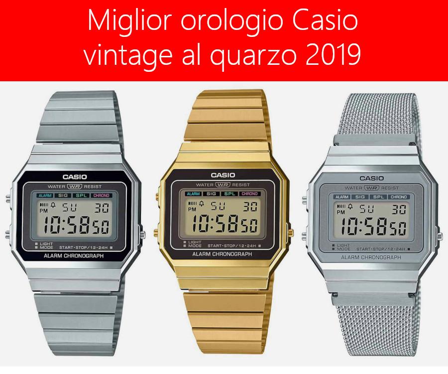 MIGLIOR OROLOGIO CASIO AMAZON VINTAGE 2020
