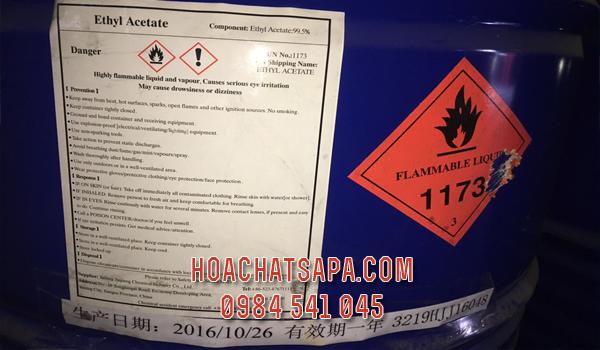Ethyl Acetate EA hàng nhập khẩu