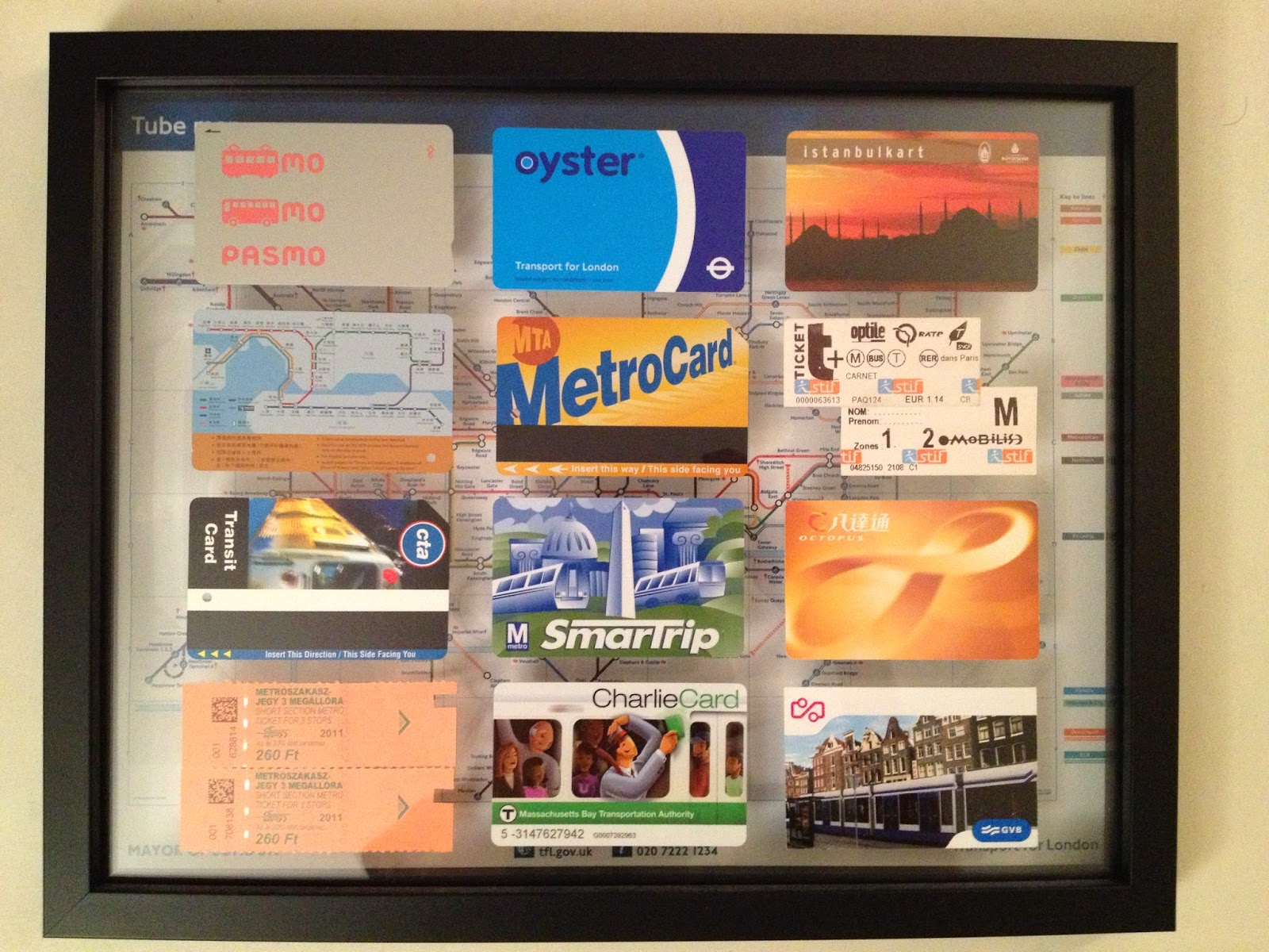 My metro card collection