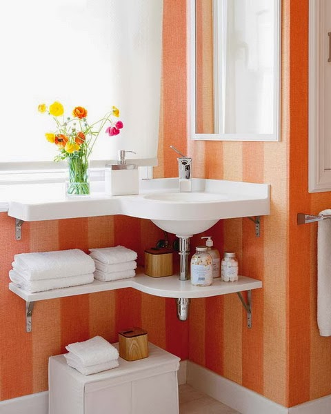 Modern Furniture 2014 Clever Furniture Arrangement Tips: Modern Furniture: 2014 Clever Solutions For Small Bathrooms