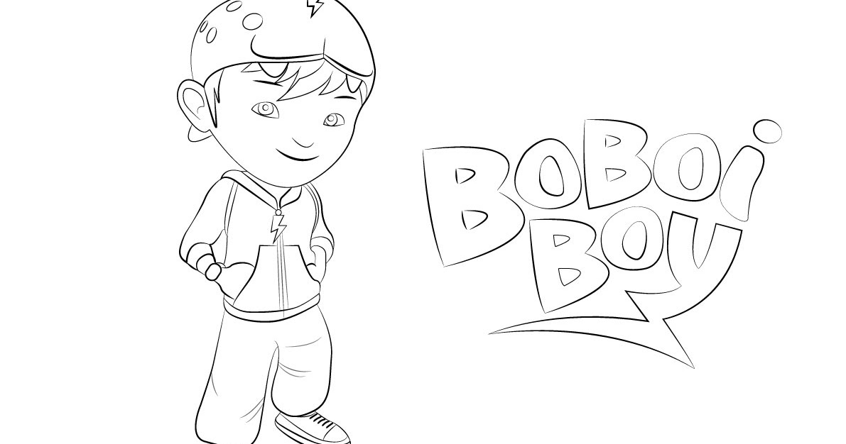 Gambar Mewarna Boboi Boy Colouring Picture Sketch Coloring Page