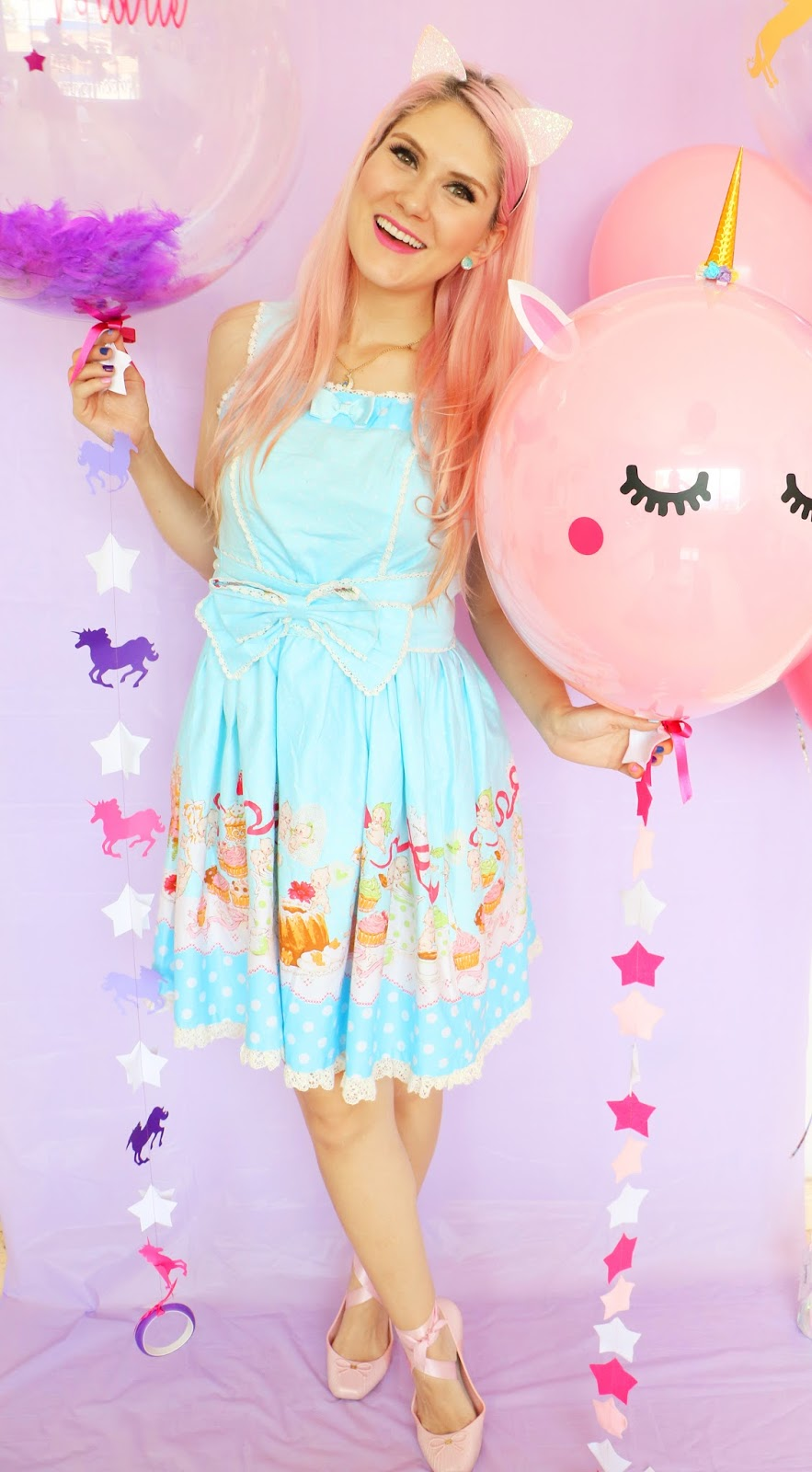 Adorable Pastel Unicorn Balloons