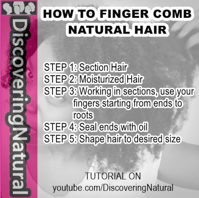 african naturalistas how to finger b your natural hair