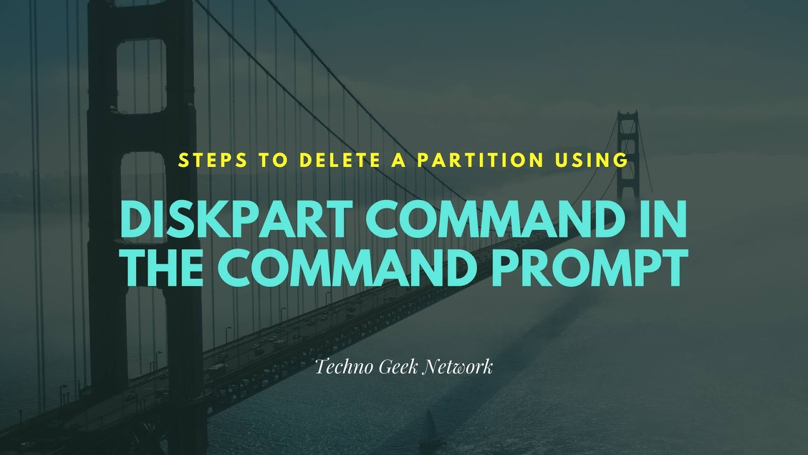 Steps to Delete a Partition Using Diskpart Command in the