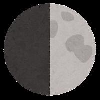 月の満ち欠けのイラスト10
