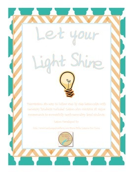 http://www.teacherspayteachers.com/Product/Instant-Bible-Lesson-Let-your-Light-Shine-1205372