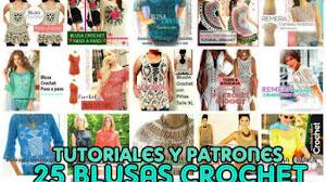 25 Blusas Crochet con Tutoriales y Patrones