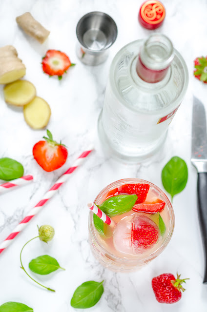 Strawberry & Basil Mule