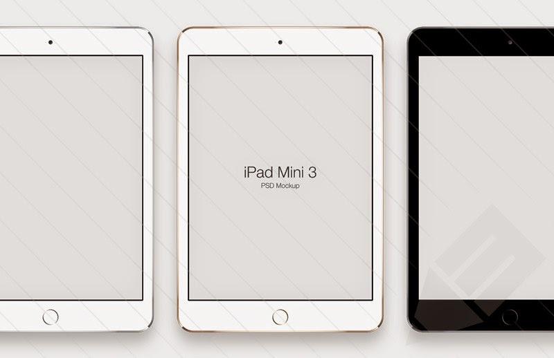 iPad Mini 3 Mockups PSD