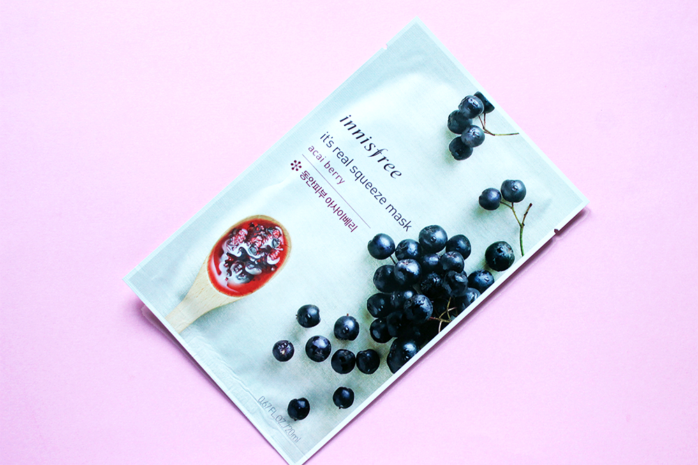 Innisfree It's Real Squeeze Mask Acai Berry review