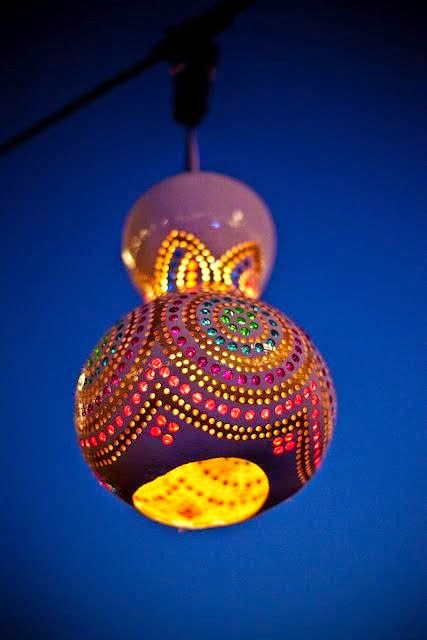 Luminária de Cabaça - DIY