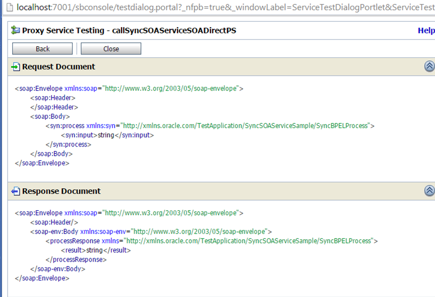 OSB to SOA Using SOA Direct Testing