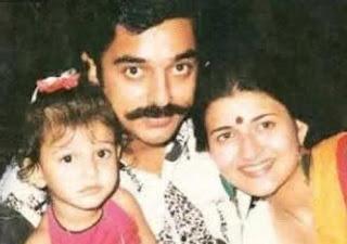 shruti with kamal hasaan childhood photo