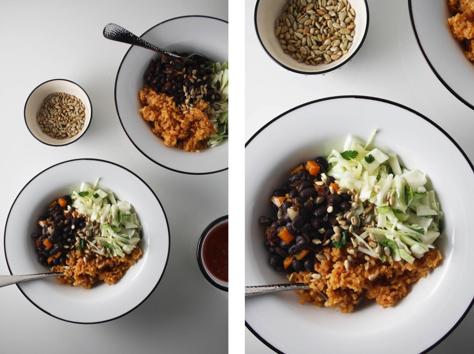 Vegetarian Burrito Bowls | Sevengrams