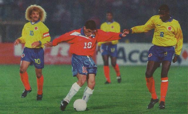 Chile y Colombia en Clasificatorias a Francia 1998, 5 de julio de 1997