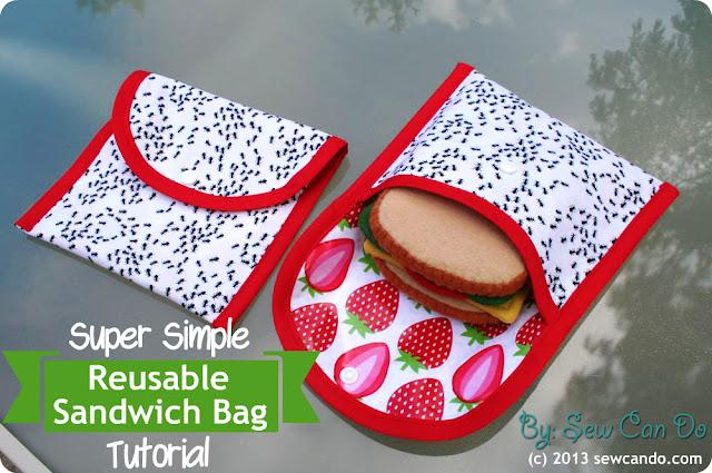 Make Reusable Sandwich Bags Food Safe Fabirc