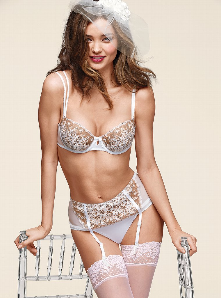 93b146a45 Miranda Kerr for Victoria s Secret Bridal Lingerie Collection in their Sexy  Little Things section
