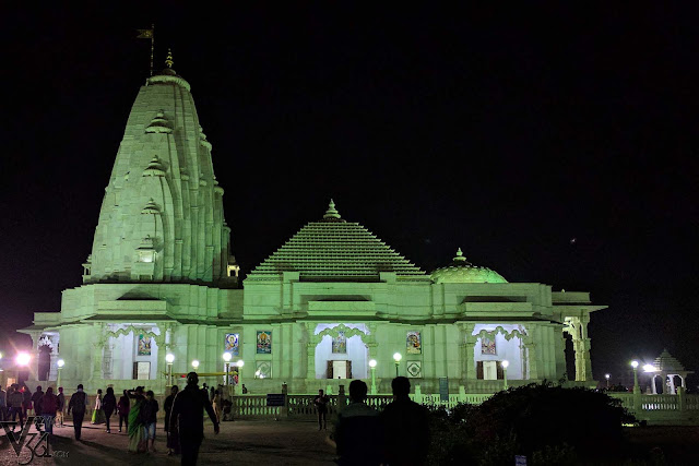 The elegance of white marble, Birla Temple