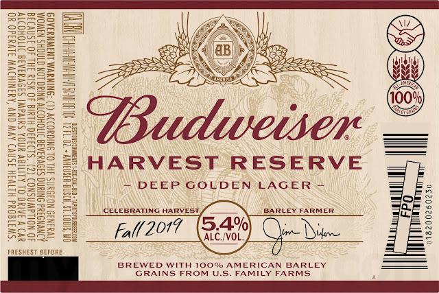 Budweiser Harvest Reserve Deep Golden Lager Coming Fall 2019