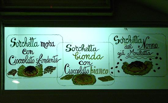 Tipos de sorchetta en Roma