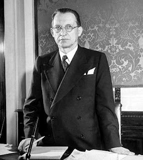 Alcide de Gasperi led Italy's first government as a republic after the end of the Second World War