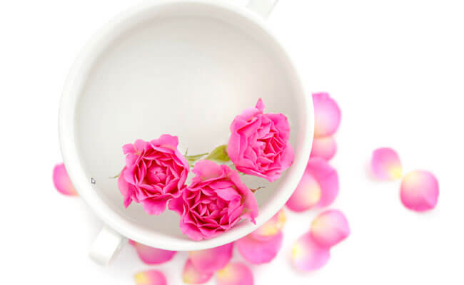 get rid of dark circles rosewater