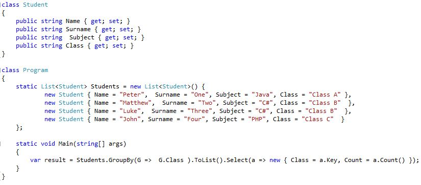 My day to day challenges: Linq equivalent to SQL Select